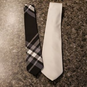 Black and white ties